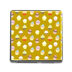 Cupcakes Pattern Memory Card Reader (square) by Valentinaart