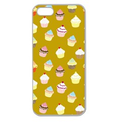 Cupcakes Pattern Apple Seamless Iphone 5 Case (clear)