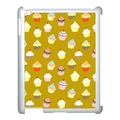 Cupcakes Pattern Apple Ipad 3/4 Case (white) by Valentinaart