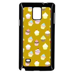 Cupcakes Pattern Samsung Galaxy Note 4 Case (black)