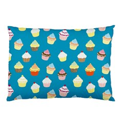 Cupcakes Pattern Pillow Case (two Sides) by Valentinaart