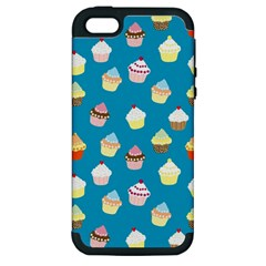Cupcakes Pattern Apple Iphone 5 Hardshell Case (pc+silicone)