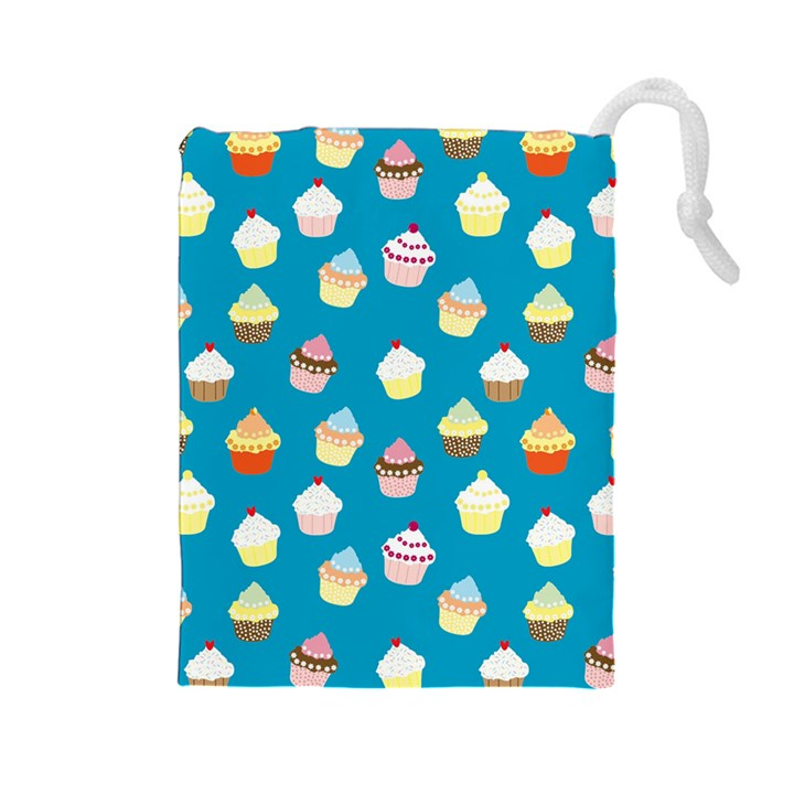 Cupcakes pattern Drawstring Pouches (Large)