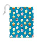 Cupcakes pattern Drawstring Pouches (Large)  Back