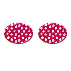 Cupcakes Pattern Cufflinks (oval)
