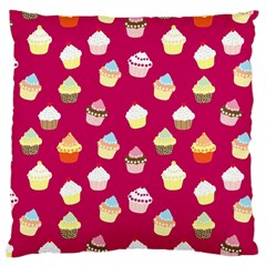 Cupcakes Pattern Large Cushion Case (two Sides) by Valentinaart