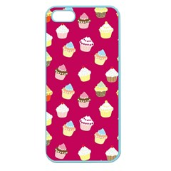 Cupcakes Pattern Apple Seamless Iphone 5 Case (color) by Valentinaart