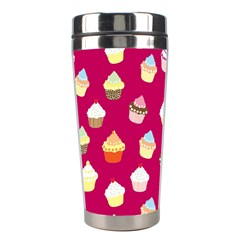 Cupcakes Pattern Stainless Steel Travel Tumblers by Valentinaart