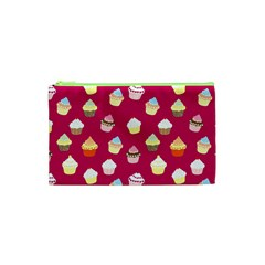 Cupcakes Pattern Cosmetic Bag (xs) by Valentinaart