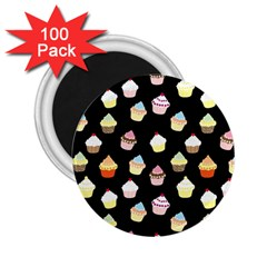 Cupcakes Pattern 2 25  Magnets (100 Pack)