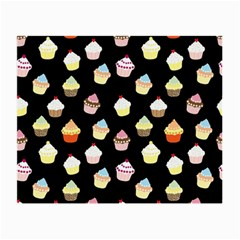 Cupcakes Pattern Small Glasses Cloth by Valentinaart