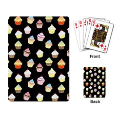 Cupcakes Pattern Playing Card by Valentinaart