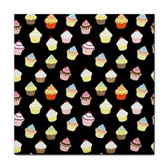 Cupcakes Pattern Face Towel