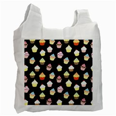 Cupcakes Pattern Recycle Bag (one Side) by Valentinaart