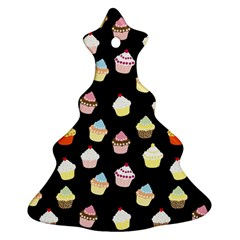 Cupcakes Pattern Ornament (christmas Tree)  by Valentinaart