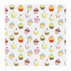 Cupcakes Pattern Medium Glasses Cloth by Valentinaart