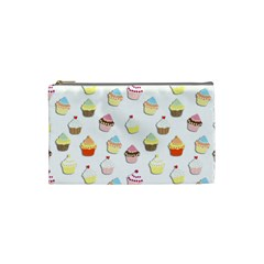 Cupcakes Pattern Cosmetic Bag (small)  by Valentinaart