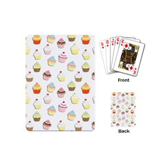 Cupcakes Pattern Playing Cards (mini)  by Valentinaart