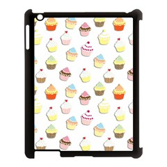 Cupcakes Pattern Apple Ipad 3/4 Case (black) by Valentinaart