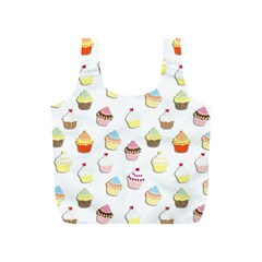 Cupcakes Pattern Full Print Recycle Bags (s)  by Valentinaart