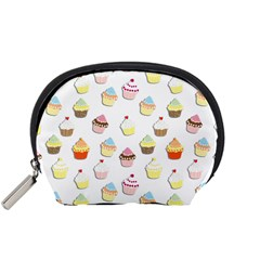 Cupcakes Pattern Accessory Pouches (small)  by Valentinaart