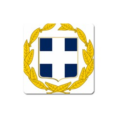 Greece National Emblem  Square Magnet by abbeyz71