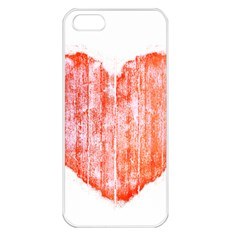 Pop Art Style Grunge Graphic Heart Apple Iphone 5 Seamless Case (white) by dflcprints