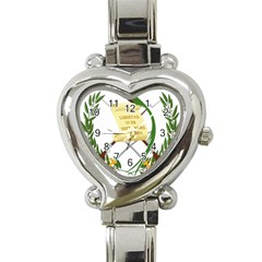 National Emblem Of Guatemala Heart Italian Charm Watch