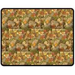 Autumn Leaves Fleece Blanket (medium) by SusanFranzblau