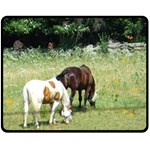 Horses, rabbit, squirrel, and sleeping kitty Fleece Blanket (Medium) 60 x50  Blanket Front