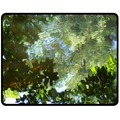 Ripples In The Water  Fleece Blanket (medium) by SusanFranzblau