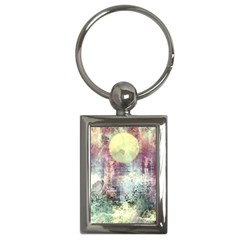 Frosty Pale Moon Key Chains (rectangle)  by digitaldivadesigns