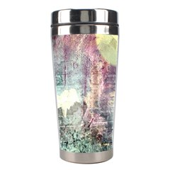 Frosty Pale Moon Stainless Steel Travel Tumblers by digitaldivadesigns