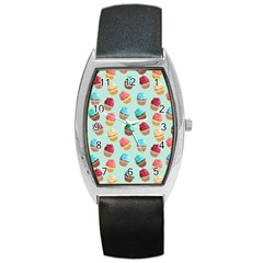 Cup Cakes Party Barrel Style Metal Watch