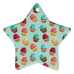 Cup Cakes Party Star Ornament (two Sides) by tarastyle