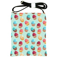 Cup Cakes Party Shoulder Sling Bags