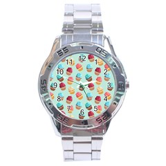 Cup Cakes Party Stainless Steel Analogue Watch by tarastyle