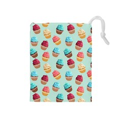Cup Cakes Party Drawstring Pouches (medium)