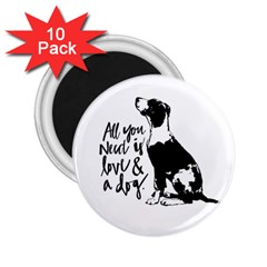 Dog Person 2 25  Magnets (10 Pack)  by Valentinaart