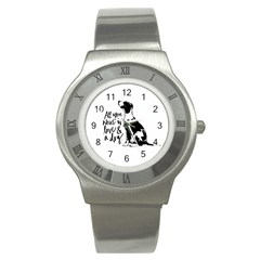 Dog Person Stainless Steel Watch by Valentinaart