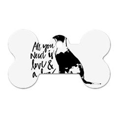 Dog Person Dog Tag Bone (one Side) by Valentinaart