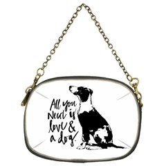 Dog Person Chain Purses (one Side)  by Valentinaart