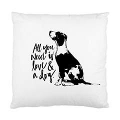 Dog Person Standard Cushion Case (one Side) by Valentinaart