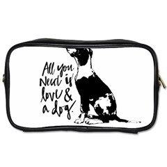 Dog Person Toiletries Bags 2 Side by Valentinaart