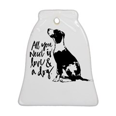 Dog Person Bell Ornament (two Sides) by Valentinaart