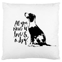 Dog Person Large Cushion Case (two Sides) by Valentinaart