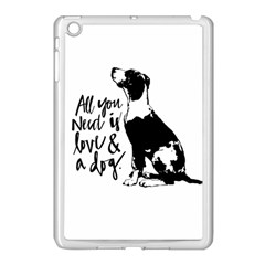 Dog Person Apple Ipad Mini Case (white) by Valentinaart