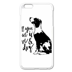 Dog Person Apple Iphone 6 Plus/6s Plus Enamel White Case by Valentinaart