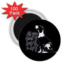 Dog Person 2 25  Magnets (100 Pack)