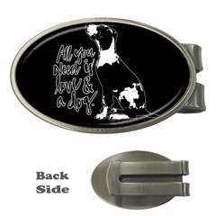 Dog Person Money Clips (oval)  by Valentinaart